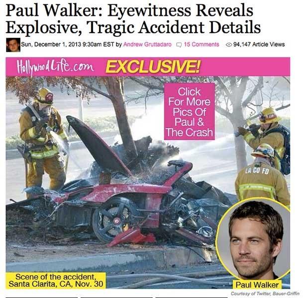 ウォーカー ワイルド スピード 事故 ポール 『ワイルドスピード』故ポール・ウォーカーの事故後遺体写真がネットに拡散される可能性が!?弟・コーディ・ウォーカーの代役は!?